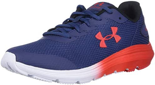 Under Armour Unisex Youth Grade School Surge 2 Sneaker Blue Ink 400 Versa Red 5 5 product image