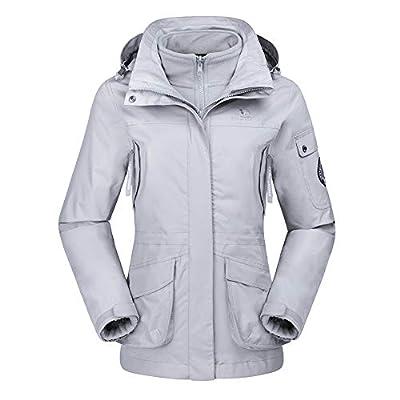 CAMEL CROWN Womens Waterproof Ski Jacket 3-in-1 Windbreaker Winter Coat Fleece Inner for Rain Snow Outdoor Hiking from