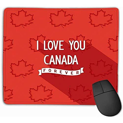 Ergonomisch ontwerp muismat muismat Canadees citaat poster ontwerp plat ik hou van je Canada voor altijd Eps levensechte rechthoek Rubber muismat 25X30Cm