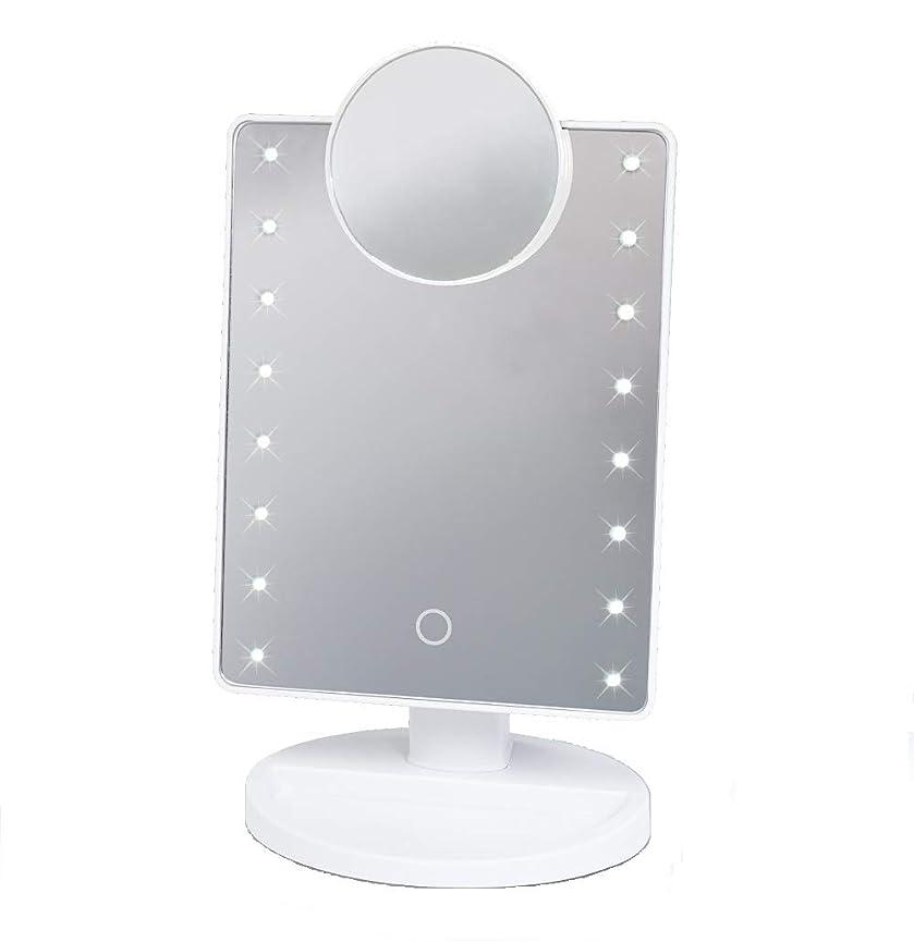 逃れる中庭ヨーロッパ16LED拡大鏡付き メイクアップミラー HAC2053