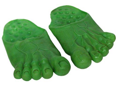 Bear boys Bär Jungen Cosplay Ghost Hulk Green Riesenfüße Bigfoot Count Hausschuhe Socken Masquerade grün