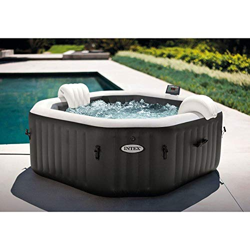 Intex 79  X 28  PureSpa Jet and Bubble Deluxe Inflatable Spa Set, 4-Person 28457E