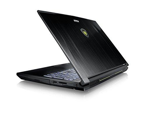 Product Image 5: MSI WE62 7RJ-1832US 15.6″ Professional Workstation Laptop Core i7-7700HQ Quadro M2200 16GB 512GB SSD, Aluminum Black