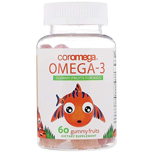 Coromega Omega-3, Gummy Fruits for Kids, 60 Gummy Fruits