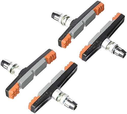 XLC Unisex– Erwachsene Bremsschuhe V-Brake BS-V09 4er Set 70 mm, Orange, Grau, Schwarz, One Size