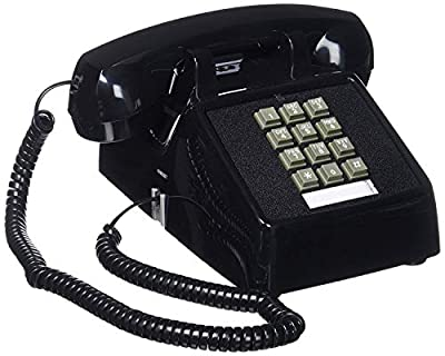 Single Line Classic 2500 Analog Desk Phone with Volume Control | Works on PBX, Handset and Line Cord Included, 2 Ports