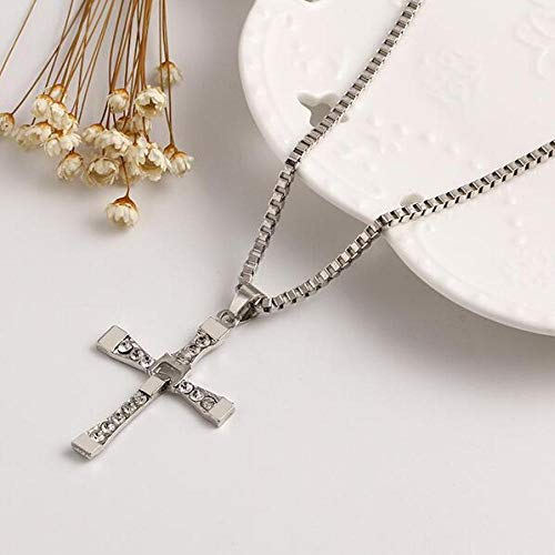 Collar Dormineering Furious Star Cross Long Collar Men, Famous Box Chain Collares Pendientes para Hombre, Sweater Neckless Jewelry Halskette