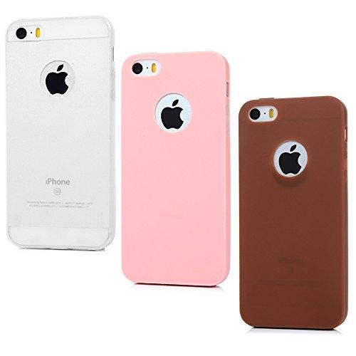 Yokirin - Funda protectora de silicona para iPhone 6/6S de 4,7 pulgadas (transparente, roja y rosa), Farbe 7, iPhone 5/5S/SE