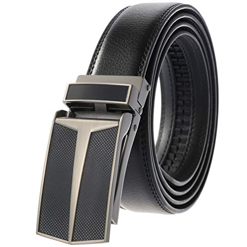 Click Belts for Men Dress Jeans with Open Buckle Belt Driver Harley Adjustable Exact Fit Click Belt as Seen On TV
