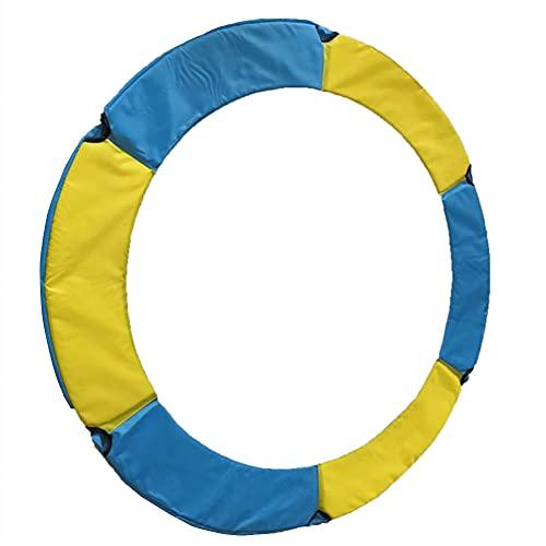 Cubierta Cubierta protectora cama elástica Espuma Protección de seguridad para cama elástica del resorte protección contra el clima y deportes al aire libre de escombros Azul Amarillo 140 cm Diámetro