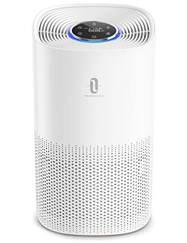 TaoTronics Purificador de Aire con Filtro HEPA, Carbón Activado, Mostrar Calidad Aire, Modo de Sueño, Temporizador, CADR hasta 250m³/h, Adecuado para 25-35㎡, Efecto de Filtro 99,97%