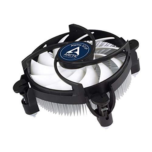 ARCTIC Alpine 12 LP - Refrigeración de CPU, Ventilador de CPU HTPC y Mini-ITX, 92 mm, Tecnología Intercambio PWM, Aluminio, 100-2000 RPM