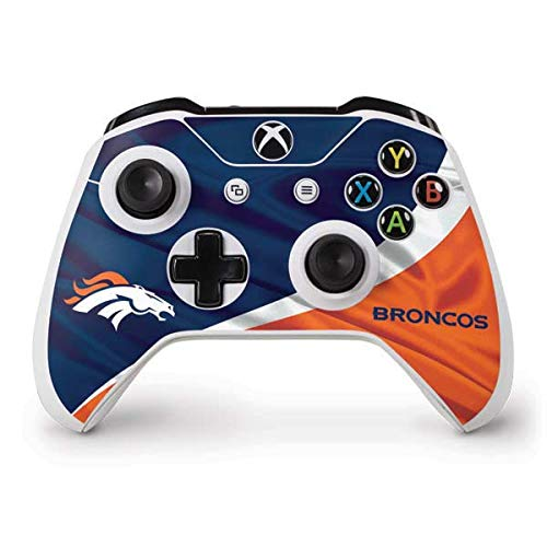 Skinit Decal Gaming Skin Compatible with Xbox One S Controller - Officially Licensed NFL Denver Broncos Design