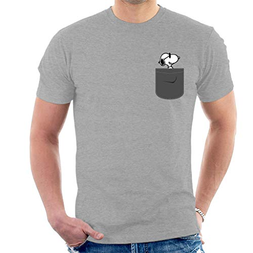 Snoopy Pocket Print Peanuts Men's T-Shirt