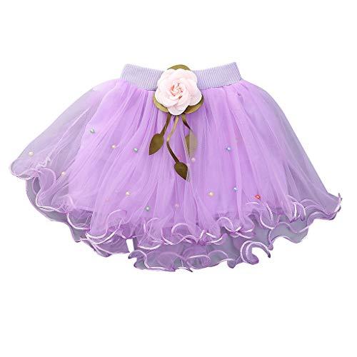 YUAN YUAN Mädchen Kleid, Kinder Kinder Baby Show Dance Party Blume Prinzessin Gaze Tutu Rock