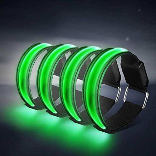 Banda Reflectante 4 Pieza Brazalete LED Running