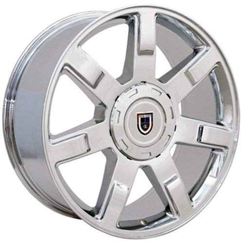 OE Wheels LLC 22 inch Rim Fits Cadillac Escalade Wheel CA80 22x9 Chrome Wheel Hollander 5309