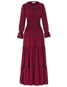 Best long sleeve peasant dresses Reviews