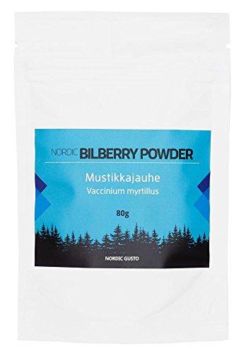 Nordic Blaubeeren Pulver - Mustikkajauhe -Pulver aus finnischen Wildblaubeeren, 80g