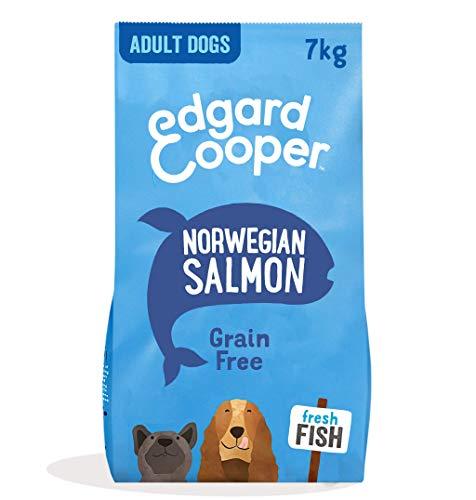 Edgard & Cooper Pienso para Perros Adultos Sin Cereales Comida Seca Natural 7kg Salmon Fresco hipoalergenico, Alimentación Sana Sabrosa y equilibrada, Proteína