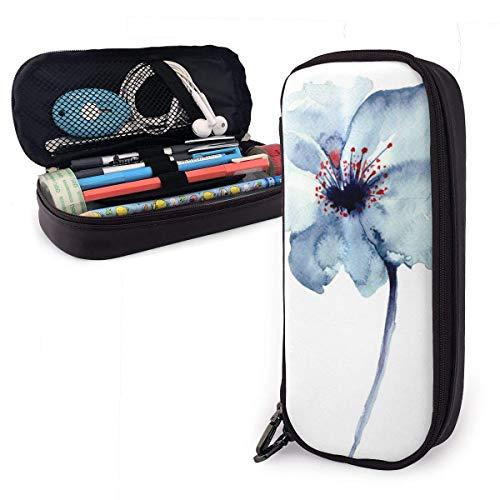 Pintura de la flor de cuero de la PU estuche de gran capacidad impermeable con cremalleras organizador de papelería multifunción cosmética bolsa de maquillaje para la escuela oficina