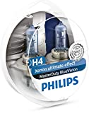 Philips 13342MDBVB1 MasterDuty BlueVision - Bombilla H4 para faros delanteros (2 unidades, 24 V, 75 - 70 W)