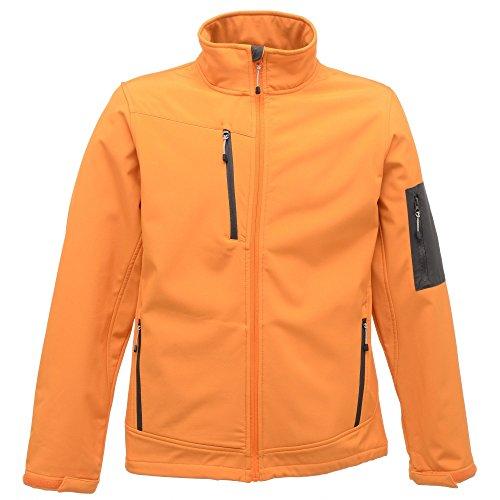 Regatta REG674–4Einfarbige Herrenjacke mit Stehkragen, langärmelig, orange (Sunora/Slgry), Größe L.