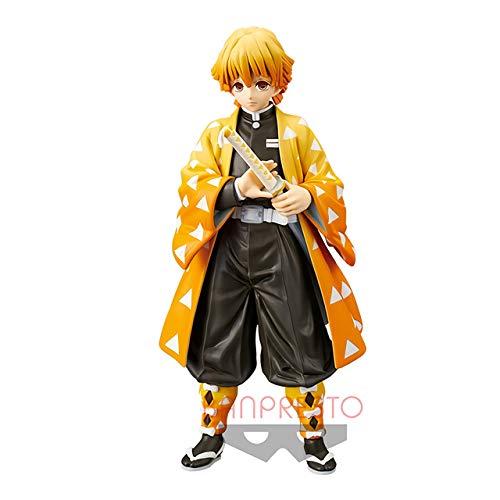 Original BANPRESTO Anime Demon Slayer Kimetsu no Yaiba Kamado Tanjirou PVC Figura de acción Guerrero Modelo Figuals Juguetes Regalos, Agatsuma Zenitsu