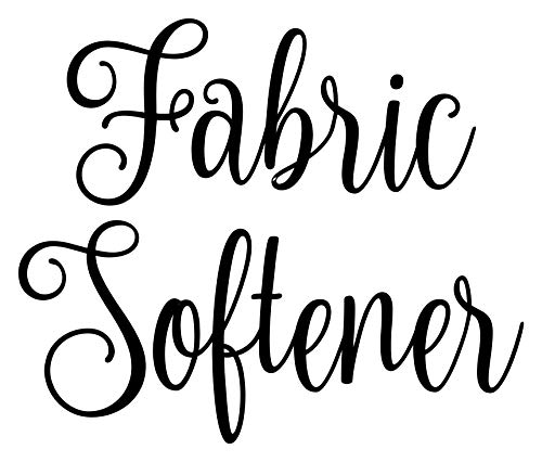 Fabric Softener 5.5w x 4.5h Label - Laundry Room Organization - Die Cut Vinyl Decal - Black Fancy Font (Sticker Only)