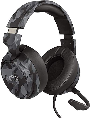 Trust Cascos Gaming GXT 433K Pylo Auriculares Gamer con Micrófono Plegable, Altavoces...