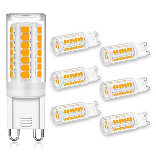 G9 LED Light Bulb 4W Equivalent 40W Halogen Bulbs, G9 Base, Warm White...