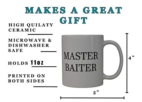 Rogue River Coffee Mug Fishing Fish Master Baiter Novelty Cup Great Gift Idea For Men Him Dad Grandpa Fisherman (Master)