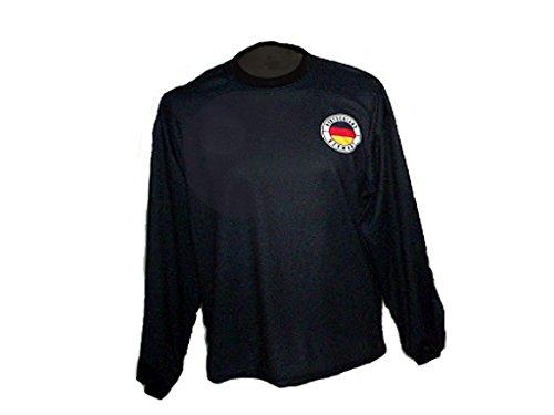 Spielfussballshop Deutschland Torwart Trikot gepolstert mit Wunschname Nummer Kinder Größe 146