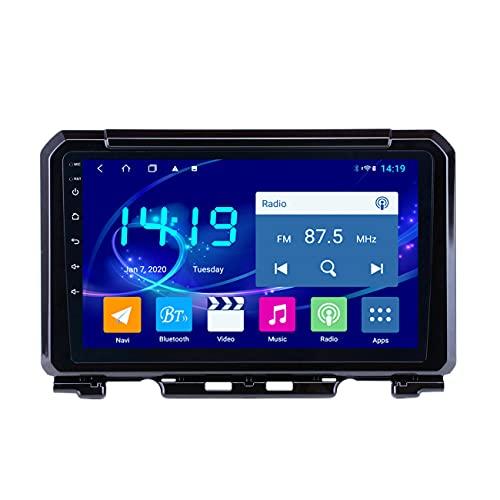 Radio de coche, Radio de coche 4G + 64G para Suzuki Jimny 2019, Android 10 IPS 2.5D Soporte de navegación GPS DSP CARPLAY 4G LTE