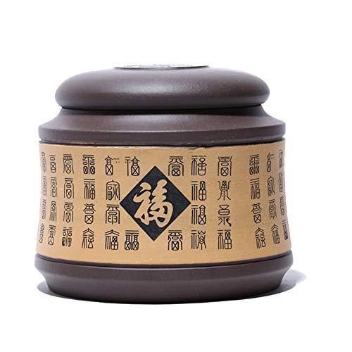 ZWSHOP Thé Canister main pourpre sable thé Canister Boîte de rangement boîte-cadeau (Color : B)