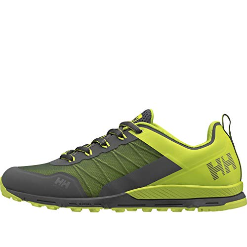 Helly-Hansen Mens Varde Trail Shoe, 964 Charcoal/Azid Lime/Ebony/Light Grey, 7