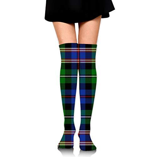 Macleod Highlanders Tartan Wilsons of Bannockburn Overknee-Oberschenkelstrümpfe Kniestrümpfe hoher Stiefel für Cosplay, tägliches Tragen