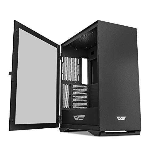 darkFlash DLX22 NEO Mid Tower Computer Case, E-ATX/ATX/Micro-ATX/Mini ITX Airflow PC Gaming Case, Hinged Tempered Glass Side Panel, USB Type-C Port, Cable Management System