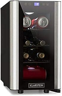 comprar comparacion Klarstein Vinovista Picollo - Refrigerador para bebidas, Nevera para vinos, 24L, 8 botellas, 3 rejillas de metal, Iluminac...