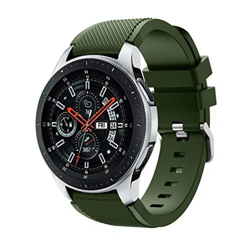 HappyTop bambini/adulti da polso per Samsung Galaxy orologio 46mm cinturino in silicone Wristband Watch Band Clearance, unisex, Army Green