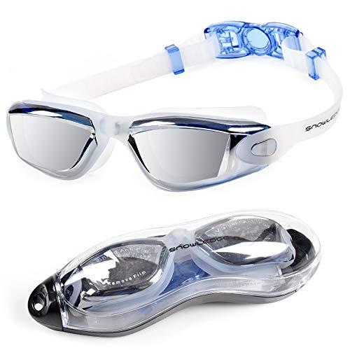 Snowledge - Gafas de natación para Hombre sin Fugas para Mujer con protección UV, visión Amplia, Ajustables, Gafas de natación para niños, Unisex, para Mujeres y jóvenes, HB-SG5-Blue