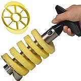 Yeelan Cortador de piña, Corer Peeler/Slicer Set (1 Peeler Negro + 1 Yellow Slicer) (Cuchillo de...