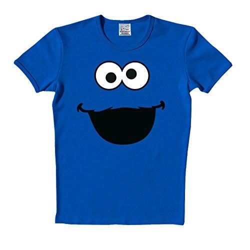 Sesamstrasse T-Shirt Cookie Monster Face Krümelmonster in Größe M