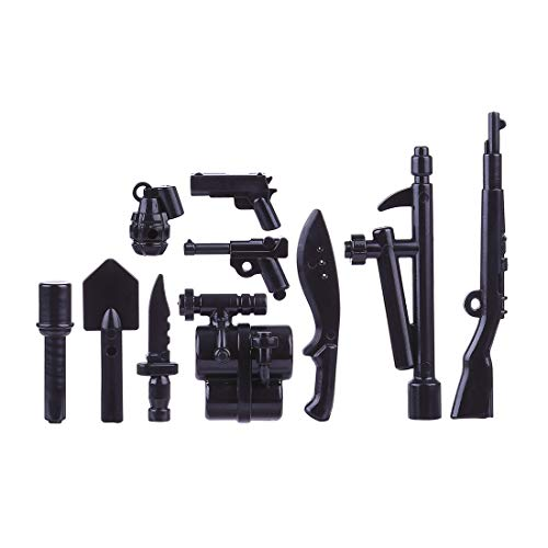Lingxuinfo Military Army Weapons and Accessories Set, 540Pcs Weapons Accessories Building Block Figure Weapon…