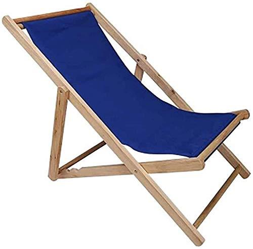 Leichter traditioneller Klapp-Strand- / Garten-Liegestuhl aus Holz Strandliege OutdoorCanvas Klappstuhl Recliner Office Load 140kg