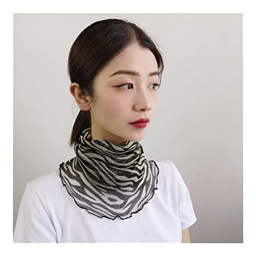 QXX Protector Solar de la Mujer sombreado Transpirable Velo de la Bufanda de Cuello Bufanda pequeña (Color : N)