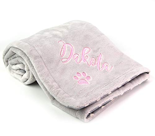 Dog Blanket Personalized New Puppy Pet Gift with Name