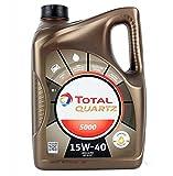 Total TO5D15405 Quartz Oil 5L 5000 15W40, Dorado
