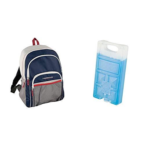 CAMPINGAZ Backpack - Nevera flexible, 14 l + 9377 Acumulador Frio, Unisex, Azul, 18 x 9 4 x 3 2 cm