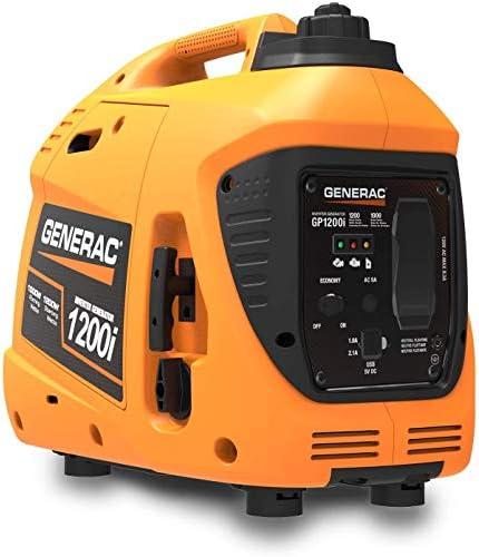 Generac 76711 GP1200i 1200 Watt Portable Inverter Generator Orange and Black product image